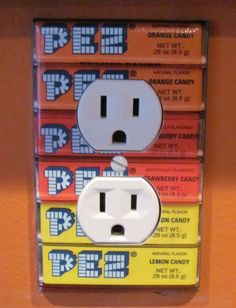 Even the light switch is PEZ
