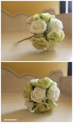 bouquet decorativi fiori tulle mecreativeinside
