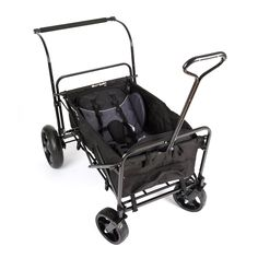 The Go-Go Babyz wagon stroller rolls out with the first wagon to hit the market with a custom telescoping push handle and rear braking system. Additionally, the wagon stroller can be pulled with its t