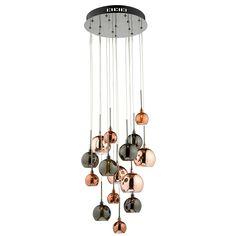 Dar Aurelia 15 Light Ceiling Light Copper