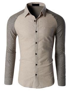 LE3NO Mens Trendy Slim Fit Long Sleeve Button Down Flannel Shirt