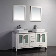 16 inch deep bathroom vanity. 59-Inch Double Ceramic Sink Bathroom Vanity Set 16 Inch Deep .
