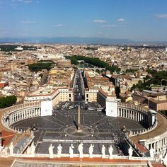 View of Rome from the Dome of St. Peter's Basilica in Vatican City ~ Rome, Italy