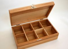 A set of two 8 compartment wooden teaboxes by CraftyMartyWorkshop