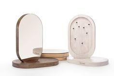 Stojan na šperky Monolith - přírodní dub - Fain Wood Jewelry Stand, Jewelry Holder, Bikini Workout, Dressing Table, White Oak, Photo Jewelry, Wood Design, Ikea, Mirror