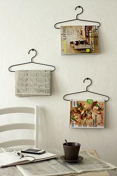 Tijdschriften hanger, leuk idee