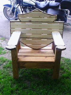 Harley Davidson bar and shield chair I make and sell.