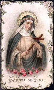 Saint Rose of Lima Religious Images, Religious Art, St Rose Of Lima, Vintage Holy Cards, Catholic Gifts, Prayer Cards, Patron Saints, Blessed Mother, Sacred Art