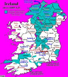 Ireland's History in Maps AD). My ancestor left about 1620 for Virginia. Ireland Map, Ireland Travel, Cleveland, Images Of Ireland, Family Genealogy, Old Maps, Historical Maps, British History, Family History