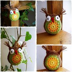 Crochet owl - home decoration