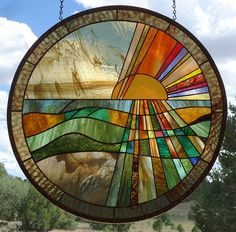 Zuni mountain art glass- this is beautiful Stained Glass Designs, Stained Glass Panels, Stained Glass Projects, Stained Glass Patterns, Leaded Glass, Stained Glass Art, Mosaic Art, Mosaic Glass, Mosaic Mirrors