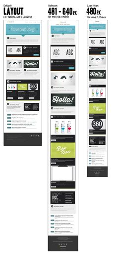 Free Responsive Email Template Part I - Email Marketing - Start your email marketing Now. - Free Responsive Email Template Part I Free Responsive Email Templates, Template Free, Email Template Design, Email Newsletter Design, Responsive Layout, Responsive Web Design, Newsletter Templates, Business Email Template, Creative Newsletter