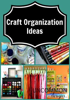 Craft Organization Ideas...some really great ideas here, some I haven't seen before. Love the sticker storage idea!