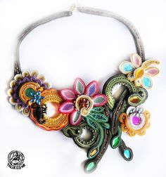 welcome spring! Soutache necklace