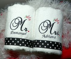 Bath Robes with personalised name Ballroom Dancers Design Embroidered On Towels