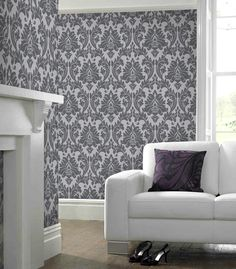 Majestic Gray Wallpaper - Designer Grey Wall Coverings by Graham  Brown