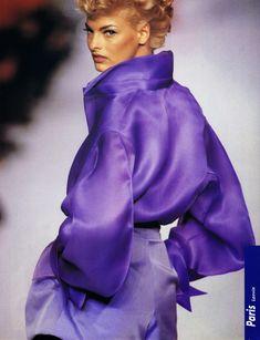 1991 - Claude Montana for Lanvin Couture show - Linda Evangelista
