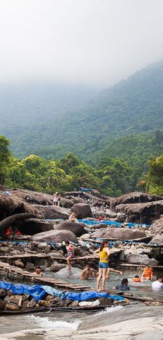 Elephant waterfall, Suol Voi, Hue to Hoi An, Vietnam Motorbike Tour