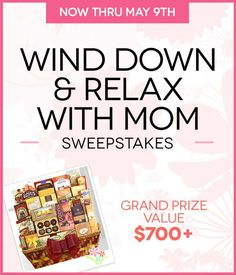 I just entered to win the From You Flowers' Wind Down & Relax With Mom Sweepstakes, with a grand prize valued at over $700 - including a $250 Williams-Sonoma gift card and more! Join me! #fyfsweeps