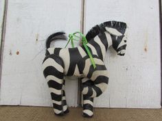 Vintage Zebra Christmas Ornament by OpenTwentyFourSeven on Etsy