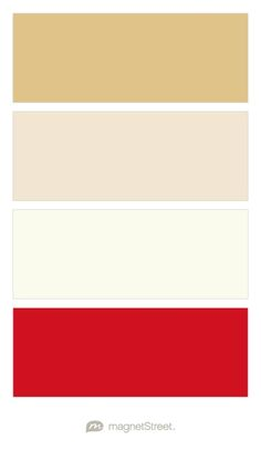 Gold, Champagne, Ivory, and Classic Red Wedding Color Palette - custom color palette created at MagnetStreet.com
