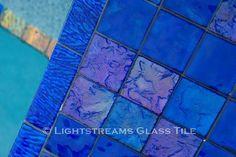* Lightstreams Glass Tile   Renaissance Collection Intense Blue Glass Tile