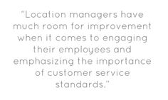 """""""Location managers have much room for improvement when it comes. Customer Service Standards, Room For Improvement, Things To Come, Management, Quotes, People, Quotations, People Illustration, Quote"""