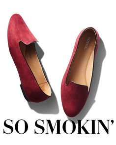 The smoking slipper has all the comfort of a ballet flat, but with a more posh elegance—basically it's both laid-back and luxe. And the slim silhouette packs a more sophisticated punch, making pants extra sleek or skirts and dresses more ladylike-cool.