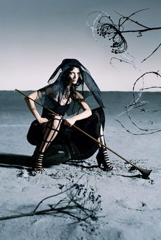 Like a Warrior   Mariacarla Boscono by Tim Walker for Vogue Italia march 2014