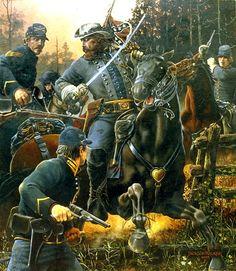 """Yellow Tavern: General JEB Stuart's Last Fight. May Jackson Walker Confederate States Of America, America Civil War, Military Art, Military History, American War, American History, Civil War Art, Southern Heritage, Landsknecht"