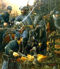 General JEB Stuart's Last Fight. May 11, 1864.