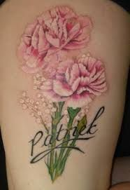 realistic carnation tattoo - Google Search