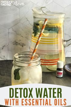 Detox naturally with this recipe of water, ginger, lemon, lime, and essential oils! Find the recipe on Freebie Finding Mom. Essential Oils Detox, Essential Oil Bug Spray, Water Recipes, Detox Recipes, Lunch Recipes, Free Recipes, Breakfast Recipes, Dinner Recipes, Low Calorie Recipes