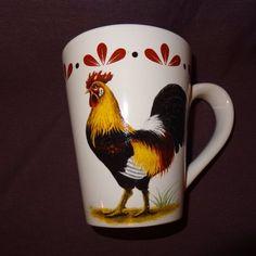 Rooster Country Coffee Mug 14 oz Cup Ceramic Farm Animal Bird Barnyard Chicken #TodaysHome