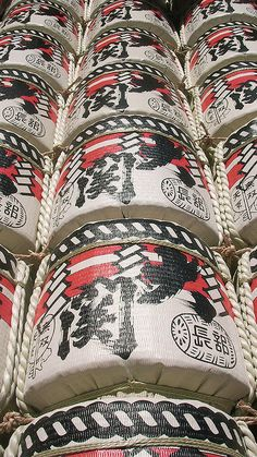 Japanese Sake barrels  ------- #japan #japanese #sake