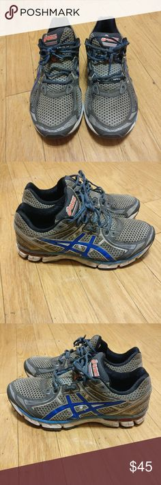 Asics Gt-2000 Mens Running Shoes Gray Blue Asics mens running shoes size 12. Condition 8/10. Overall in good shape and a very high quality shoe. Asics Shoes Athletic Shoes