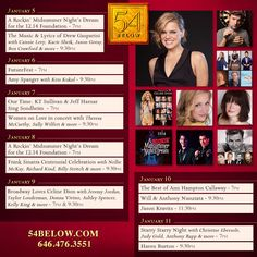 Week of January 5th, 2015 performance schedule. Click to buy tickets.