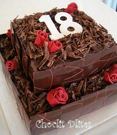 Robyn's 18th birthday cake by Choclit D'lites, via Flickr
