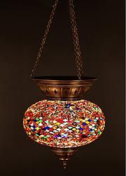 LARGE MOSAIC CEILING LAMP, MOSAIC LAMP