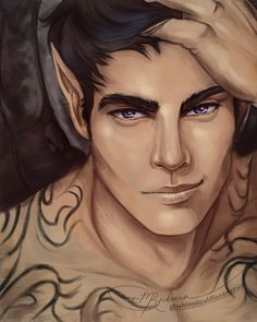 """1,085 Likes, 176 Comments - Micheline Ryckman (@whimsicalillustration) on Instagram: """"Two posts today!!! It's those violet eyes - I couldn't resist! . I've only ever drawn Rhys on his…"""""""