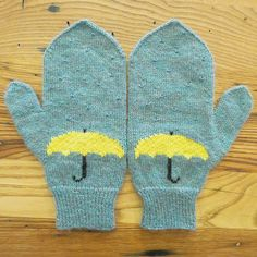 April Showers Mittens free pattern