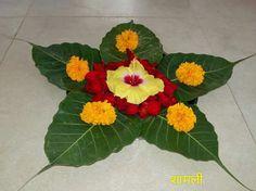 Creative flower arrangement  for festival decorations