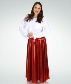 594 Metallic Full Length Circle Praise Dance Skirt $41.25