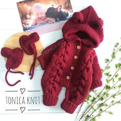 Ideal knitting triangle knitting pattern, how to make a new crochet bamboo for 2019 - page 10 of com, Crochet Baby Sweaters, Knitted Baby Clothes, Baby Knitting Patterns, Free Knitting, Cardigan Bebe, Baby Boy Cardigan, Winter Newborn, Crochet Patron, Baby Pullover