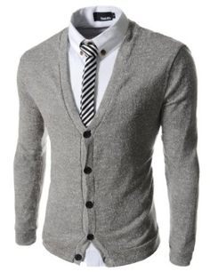 TheLees Slim Fit 5 Button Pattern Sweater Cardigan