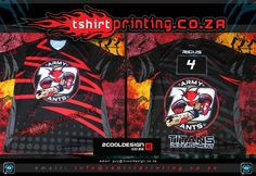 coolest cricket shirts in South Africa-ARMY-ANTS-All-over-print Best Logo Design, Custom Logo Design, Custom Logos, Custom Shirts, Sports Team Logos, Team Shirts, Cool Logo, Service Design, Cool T Shirts