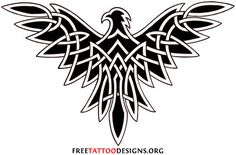 http://tattoo-ideas.us #Tribal Eagle Tattoo
