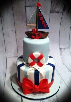 nautical cakes | Nautical themed baby shower cake - by Skmaestas @ CakesDecor.com ...