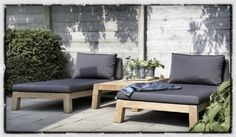 Image detail for -Piet Boon Outdoor Lounge Meubelen for the porch Outdoor Daybed, Outdoor Lounge, Outdoor Spaces, Outdoor Living, Outdoor Furniture Plans, Garden Furniture, Wicker Furniture, Small Gardens, Outdoor Gardens
