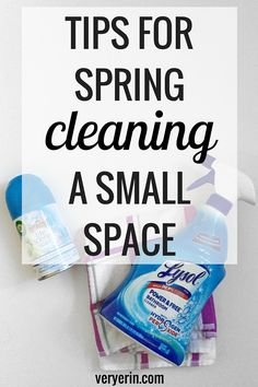 Tips for Spring Cleaning a Small Space | Home and Home Decor | Organization - Very Erin Blog | #SpringIntoClean #Ad